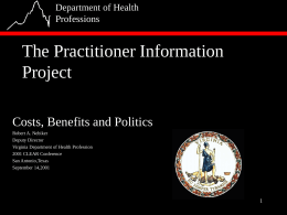 The Practitioner Information Project