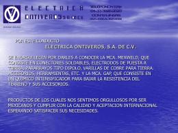 Mexweld - Electrica Ontiveros SA de CV