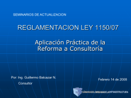 RELAMENTACION LEY150/07