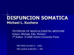 DISFUNCION SOMATICA