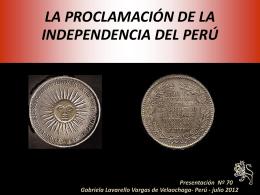 LA INDEPENDENCIA DEL PERU - Holismo Planetario en la …