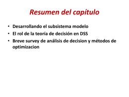 Decision Support System (DSS) Curso basado en material …