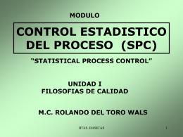 CONTROL ESTADISTICO DEL PROCESO (SPC)