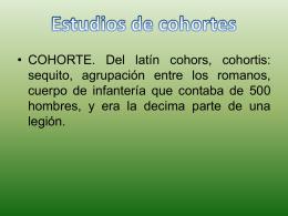 ESTUDIOS COHORTES
