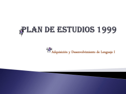 Plan de Estudios 1999