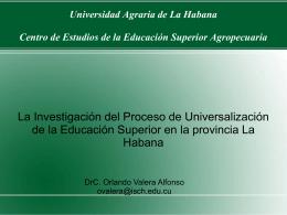 Universidad Agraria de La Habana Centro de Estudios de …