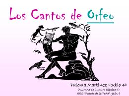 Los Cantos de Orfeo