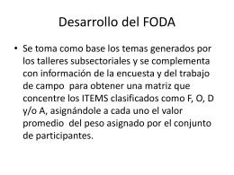 Pasos desarrollo del FODA