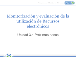 Monitoring and Evaluation of Electronic Resource Use