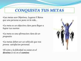 CONQUISTA TUS METAS