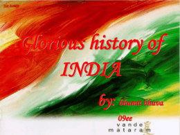 Glorious History of India - G. H. Patel College of