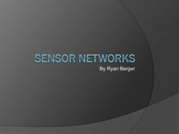Sensor Networks - Gordon College