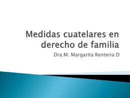 Medidas cuatelares en derecho de familia