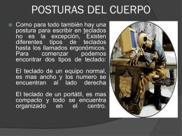 POSTURAS DEL CUERPO