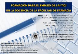 Diapositiva 1 - Facultad de Farmacia de la Univerdad de
