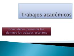 Trabajos academicos