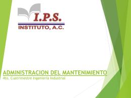 Mantenimiento industrial - IPS CAMPUS POZA RICA | …