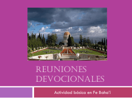 REUNIONES DEVOCIONALES