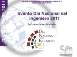 convocatoria aipm - Colegio de Ingenieros Petroleros de