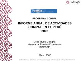 INFORME SEMESTRAL DE LAS ACTIVIDADES DE COMPAL …