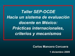 Presentacion apertura CMC/ Taller SEP-OCDE