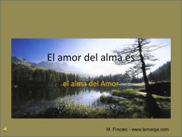 El amor del alma es