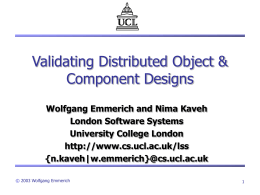 Validating Distributed Object & Component Designs