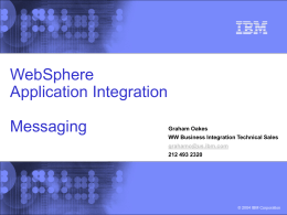 IBM blue-and-black template with image