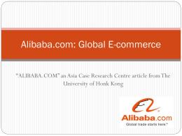 Alibab.com: Global E
