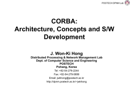 A CORBA-based Management Framework for Distributed