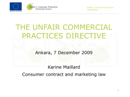 Unfair Commercial Practices