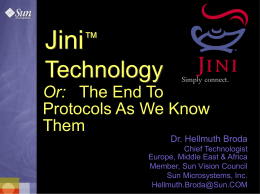 Jini Technology Presentation (01/25/99)
