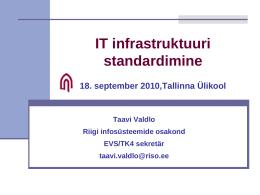 Infotehnoloogia ja standardid