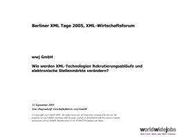 Berliner XML Tage