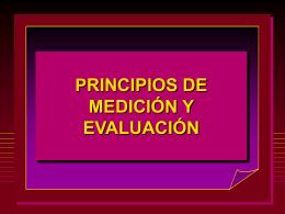 MEDICION Y MEDIDAS EVALUATIVAS EN EDUCION FISICA
