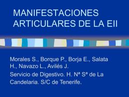MANIFESTACIONES ARTICULARES DE LA CU