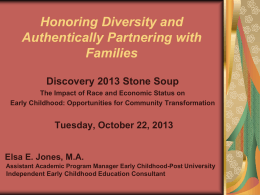 Honor DIVERSITY Build Culturally Responsive Family