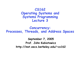 Lecture 3: Concurrency - University of California, Berkeley