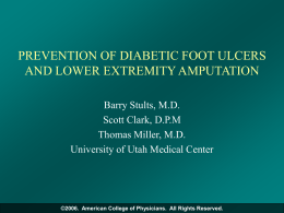 Diabetic Foot Ulcer: Screening and Prevention