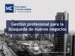 Diapositiva 1 - MJC Partners Comerciales & Asociados