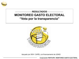 PROYECTO MONITOREO GASTO ELECTORAL