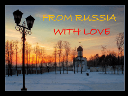From Rusia with Love
