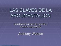 LAS CLAVES DE LA ARGMENTACION