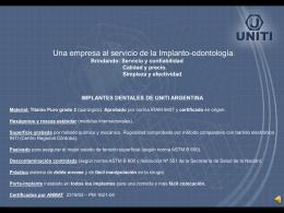 Diapositiva 1 - UNITI sistema de implantes
