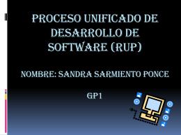 PROCESO UNIFICADO DE DESARROLLO DE SOFTWARE …