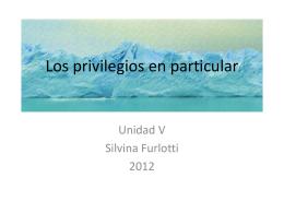 Los privilegios en particular