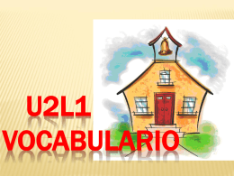 U2L1 VOCABULARIO