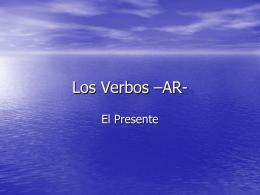 Los Verbos –AR-