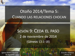 ceda_el_paso_110214 - Iglesia Biblica Bautista de
