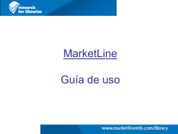 MARKETLINE - Biblioteca Virtual del Sistema Sanitario